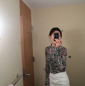 DVF silk blouse